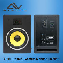 Audio live VRT6 Professional Active Studio Monitors with Stereo Speakers High End Ribbon Tweeter in Home Speakers and Subwoofers