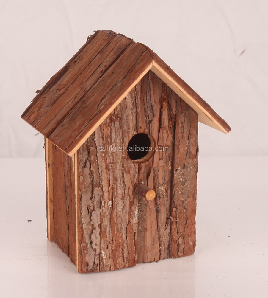 new natural wood bird house wholesale wood bird aviary