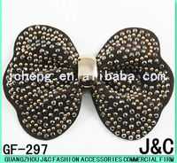 bowknot shaped fabric handmade shoes decoration flower
