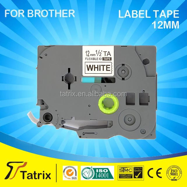 White On Black Compatible p-touch label Ribbon Cartridge TZe-335 TZe335 TZ335 for Brother Tapes