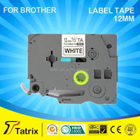 White On Black Compatible p-touch label Ribbon Cartridge TZe-335 for Brother Tapes TZ-335