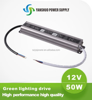 CE,ROHS approved constant voltage power ved 110v dc power supply 12v 50w waterproof electronic led driver