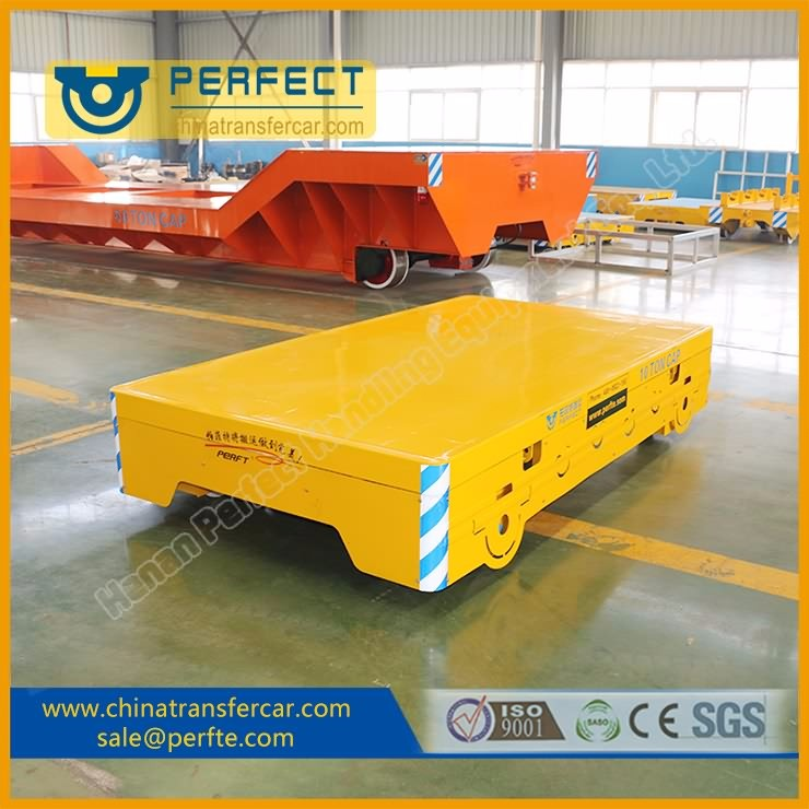 No powered manual operated rail conveyer/transport trailer for seaports