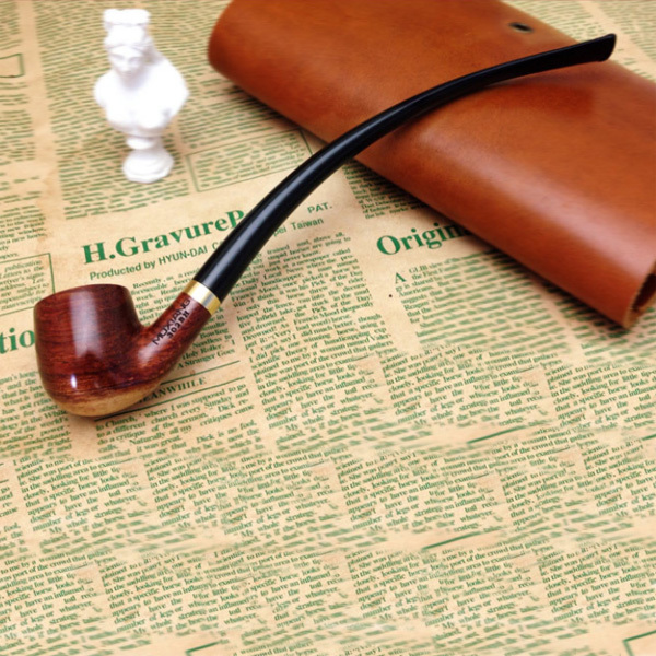 New Men's Classic Wooden Tobacco Smoking Pipe Smoking Rosewood Pipe Men's Wood Tobacco Pipe Metal Pipe Smoking