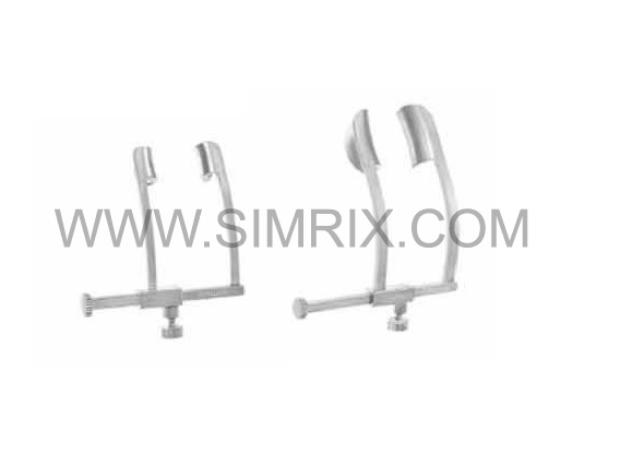 COOK eye Speculum solid blades 5 mm spread 25 mm ophthalmic instruments , AND solid blades 15 mm spread 31 mm