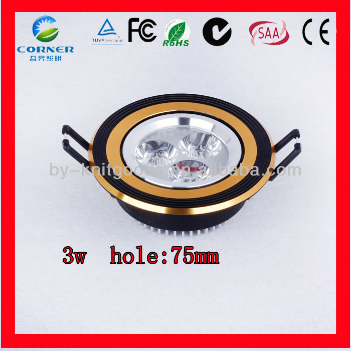 2014 hot sale AC100-240V 3w led downlight wiring diagram