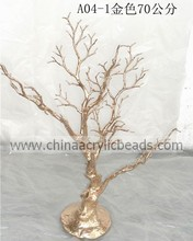imitation wedding manzanita tree plastic cyrstal strands with branch garland tree decoration