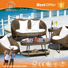 Plastic Rattan Woven Furniture Outdoor / Rope Outdoor Furniture