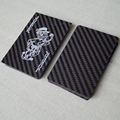 2017 NEW fashion custom carbon playing cards, 3K Twill 100% carbon fiber card
