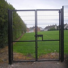 steel security door in garden