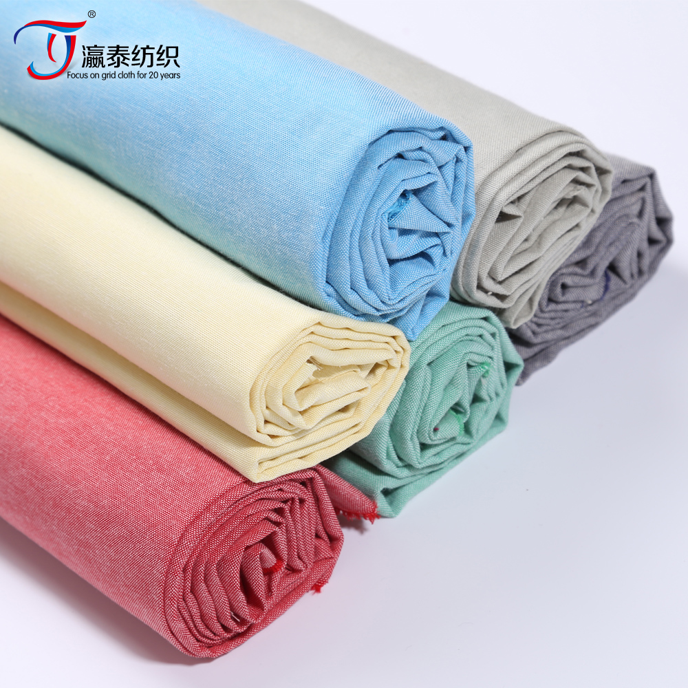 CVC Oxford shirt fabrics Polyester/cotton yarn-dyed fabric manufacturers selling youth cloth fabric