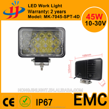 Factory directly deal DC10-30V 45w Square 7inch 4D Lens led work light cars atv IP67 led headlight