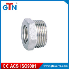 Manufacturer nickel plated connection fittings small joint part ART045N bushing screw pipe fitting