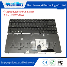 laptop us keyboard for hp dv6-3000 frame black