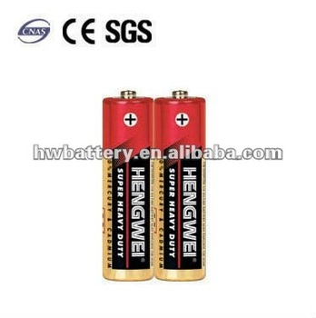 R6 Battery Packs Saline R6-2/S DRY BATTERY AA 1.5V CARBON ZINC