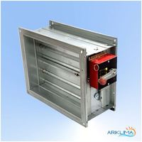 Hvac motorized air tight damper with motor VCDA