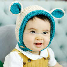 Wholesale Fashion Cute Hand Made Spirit Pattern Boys Girls Baby Knitted Hat