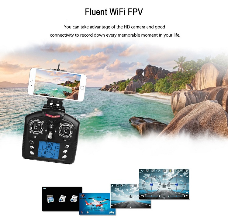 Q383 B MINI 3D Rolling WIFI FPV RC Drone with Camera