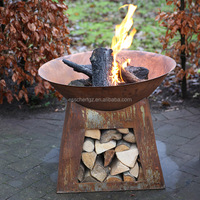 Esschert Design Special Various type BSCI Outdoor fire pit with chimney