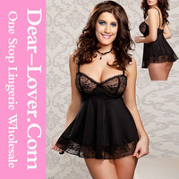 Dropship Service Black Very Sexy Hot Sale Queen size sexy lingerie