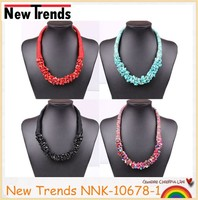Handmade fashion jewelery accessories colorful turquoise necklace