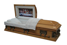 The Last Supper wooden solid or veneer caskets and coffins with different color