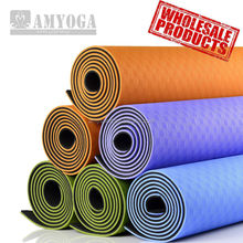 eco-friendly wholesale TPE yoga mat 6mm non slippy non toxic professional level in two tone color