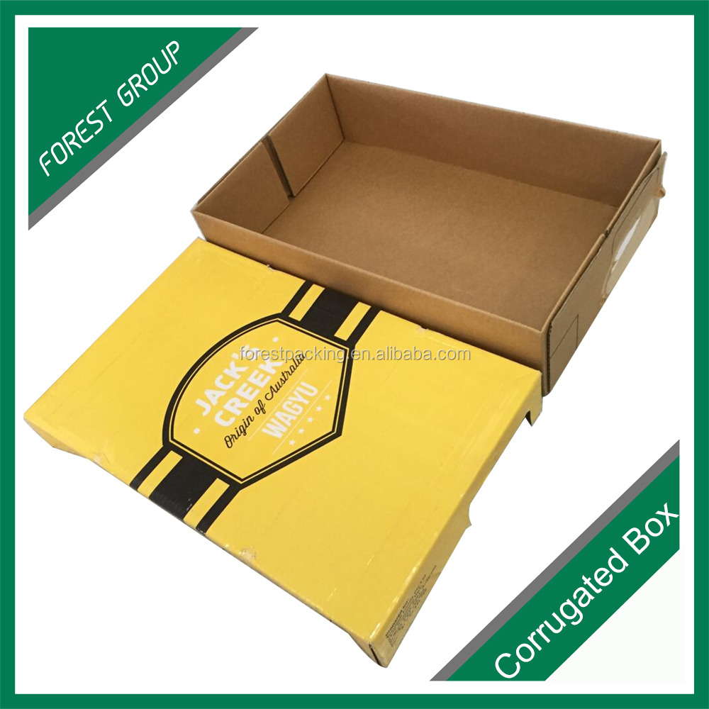 CUSTOM LOGO PRINTED PAPER PACKAGING BOX FOR FROZEN BEEF MEAT