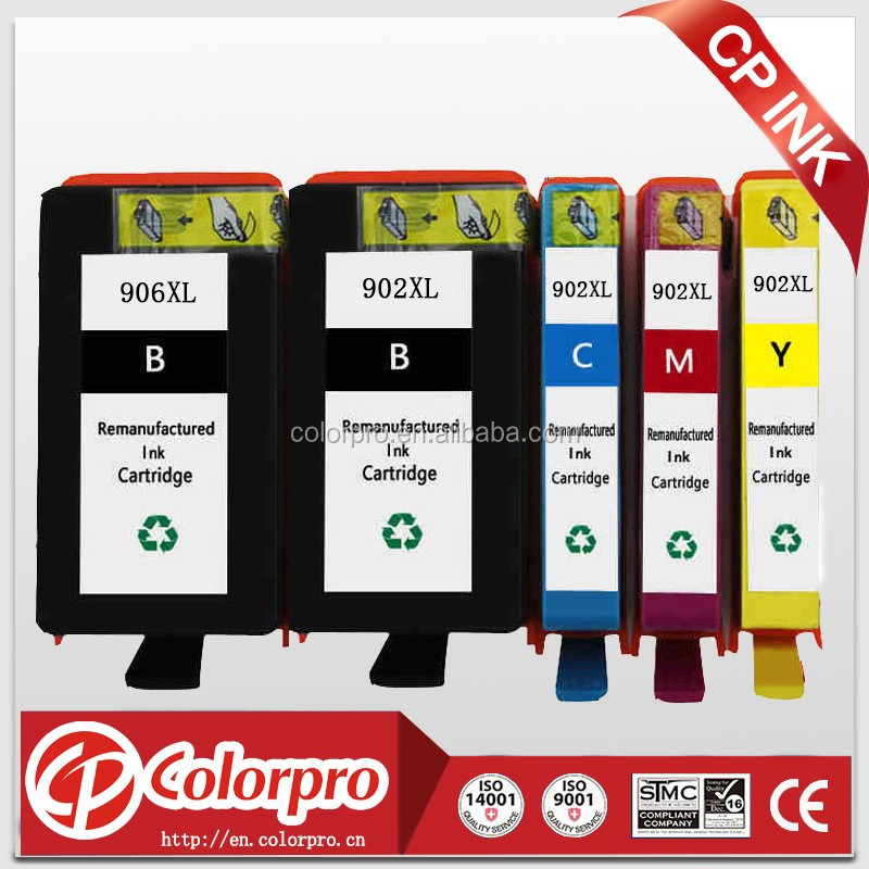for hp 904 ink cartridge for hp 904XL 908XL remanufactured ink cartridge