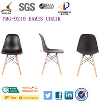 Chromed base Popular style dining chairs made in malaysia