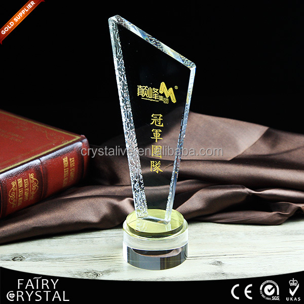 Hot Sale crystal award plaques with 2 colors base