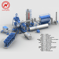 58-62t/h road construction machinery asphalt plant mixing machine
