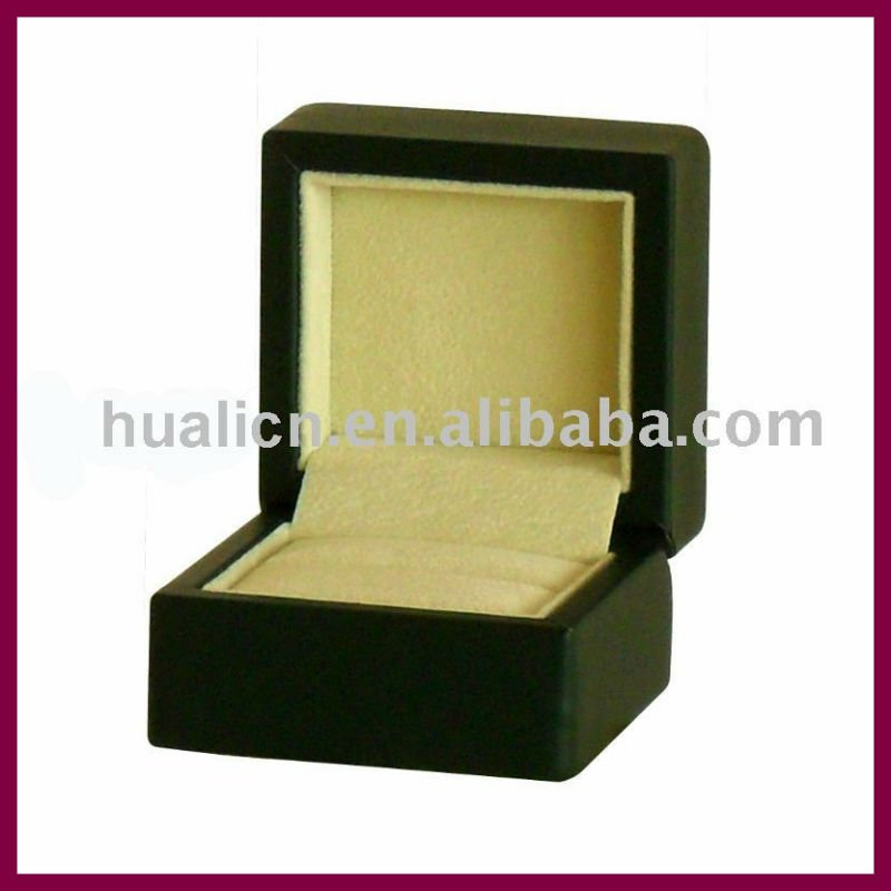 hot sale cheap black jewelry ring box for sale