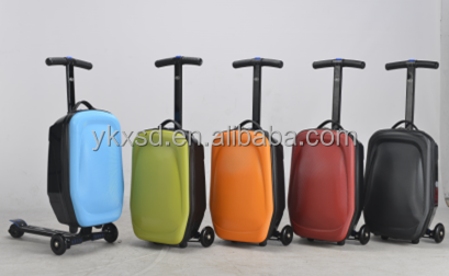 Low price 3 in 1 suitcase scooter /foldable travel scooter suitcase /trolley luggage scooter