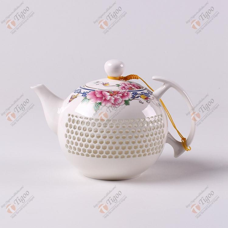 2016 A coffee cup heater enamel teapot tea kettle porcelain cup pot TG-608T03-W-L-13