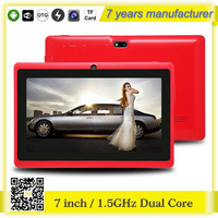 ZXS-Q88 Allwinner quad core CPU tablet pc and free download games 7 inch android mid Q8 tablet pc with battery 3000mah