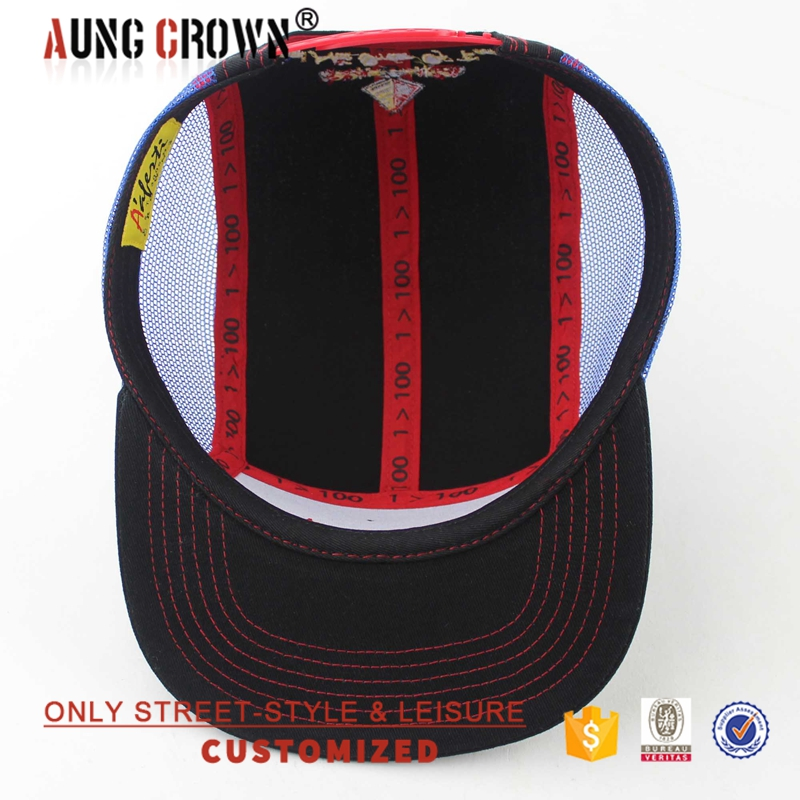 Summer Custom-made Embroidered Cool Mesh 5 Panel Cap Design