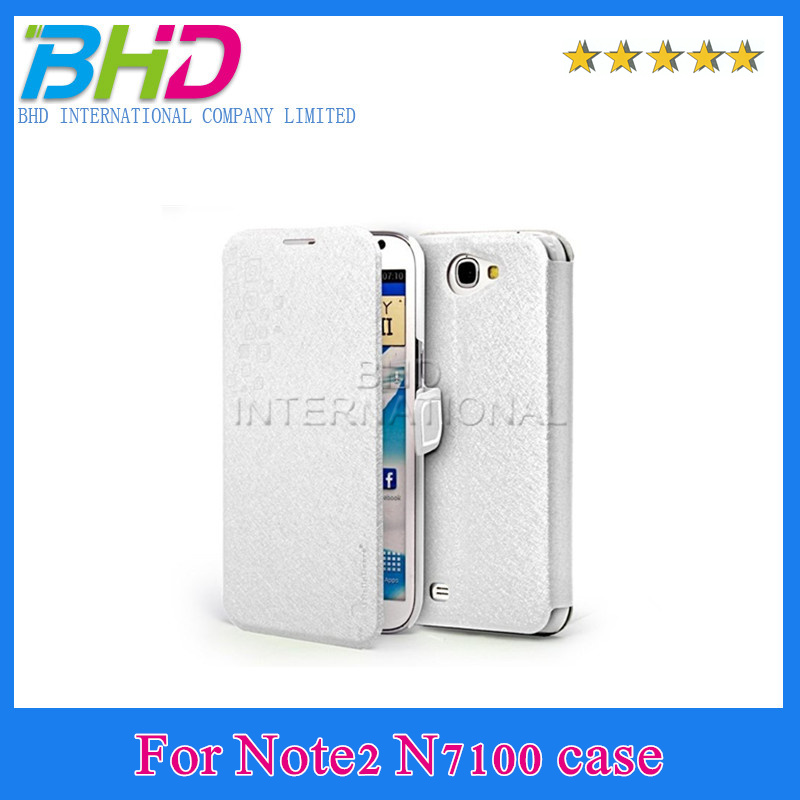 Newest PU leather case for Samsung n7100 slim simple light