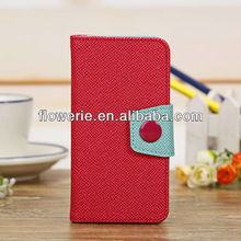 FL2770 2013 China new product korean style wallet leather case for iphone 5c with 3 card slots