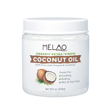 MELAO Organic Extra Virgin Coconut Oil, 16 Ounce