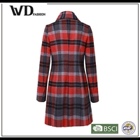 China popular product winter faux perka classic checked overcoat