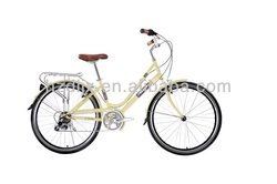 Hot sale classic 26inch cheap steel retro city bike /bicycle for ladies