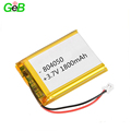 2018 hot sale rechargeable 1s lipo battery lipo 3.7v 1800mah 804050