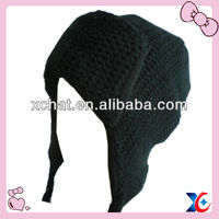 Fashion earflap hat knit headwear