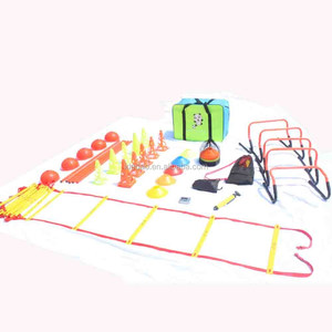 Agility Pole Hurdle Training Set Agility Indoor Outdoor Flexible Cone Set Football Equipment