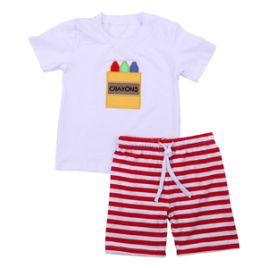 New arrival boys fashion clothing children cotton clothes wholesale summer boutique kids clothing