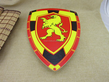 Kid's welsh dragon wooden toy shield