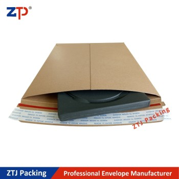 Brown kraft paper board rigid mailer stay flat gator pak envelopes
