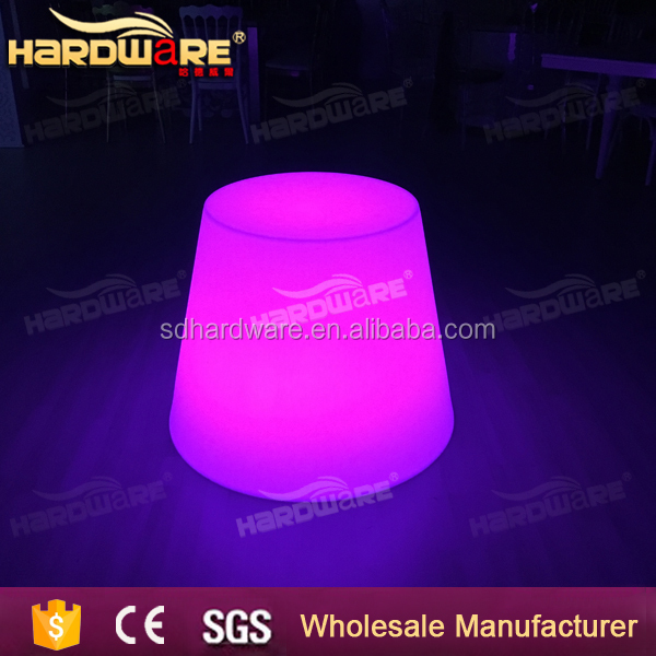 wholesale round lighted up led bar cocktail table for night club