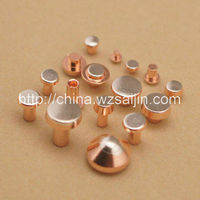 Bimetal size R6*1.5(0.5)+3*3 AgCdO 85/15 contact rivets with copper based to Ukraine